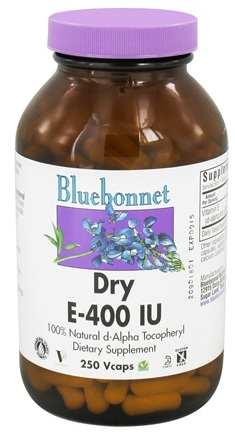 DROPPED: Bluebonnet Nutrition - Dry E 400 IU - 250 Vegetarian Capsules CLEARANCE PRICED