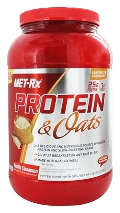 DROPPED: MET-Rx - Protein & Oats Vanilla Cinnamon - 2 lbs.
