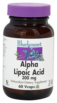 Bluebonnet Nutrition - Alpha Lipoic Acid 300 mg. - 60 Vegetarian Capsules