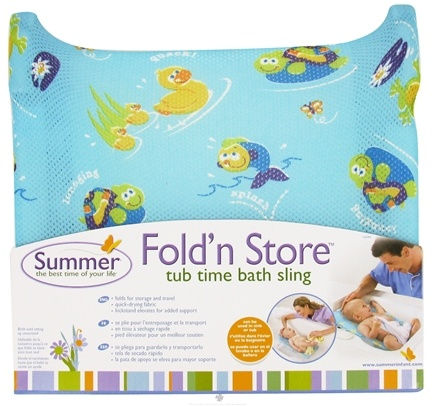 DROPPED: Summer Infant - Tub Time Fold 'n Store Bath Sling - CLEARANCE PRICED