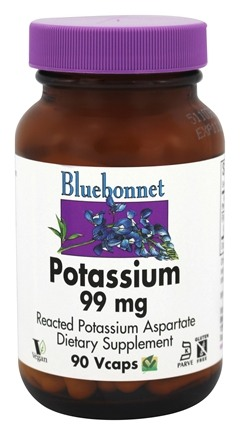 DROPPED: Bluebonnet Nutrition - Potassium 99 mg. - 90 Vegetarian Capsules