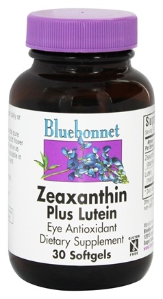 Bluebonnet Nutrition - Zeaxanthin Plus Lutein - 30 Softgels