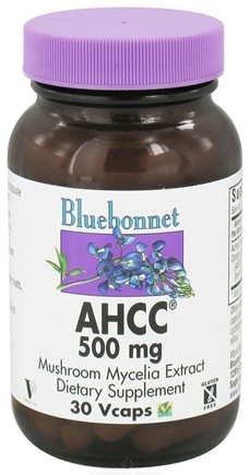 DROPPED: Bluebonnet Nutrition - AHCC 500 mg. - 30 Vegetarian Capsules