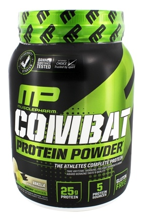 DROPPED: Muscle Pharm - Combat Advanced Time Release Protein Powder Vanilla - 2 lbs.