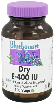 DROPPED: Bluebonnet Nutrition - Dry E 400 IU - 100 Vegetarian Capsules CLEARANCE PRICED