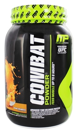 DROPPED: Muscle Pharm - Combat Advanced Time Release Protein Powder Orange Creamsicle - 2 lbs.