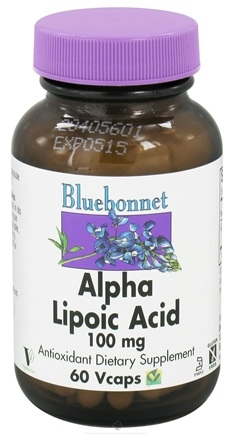 DROPPED: Bluebonnet Nutrition - Alpha Lipoic Acid 100 mg. - 60 Vegetarian Capsules CLEARANCE PRICED