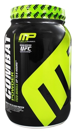 Muscle Pharm - Combat Advanced Time Release Protein Powder Banana Cream - 2 lbs.