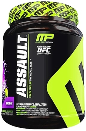 DROPPED: Muscle Pharm - Assault Pre-Performance Amplifier Grape Blast - 1.62 lbs.