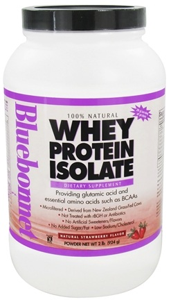 DROPPED: Bluebonnet Nutrition - Whey Protein Isolate Natural Strawberry Flavor - 2 lbs. CLEARANCE PRICED
