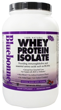Bluebonnet Nutrition - Whey Protein Isolate Natural Mixed Berry Flavor - 2 lbs.