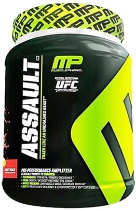 DROPPED: Muscle Pharm - Assault Pre-Performance Amplifier Fruit Punch - 3.04 lbs.