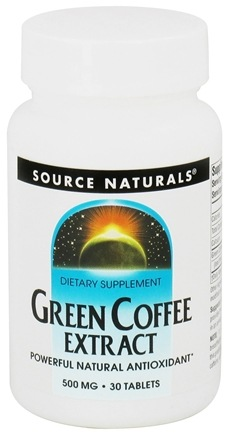 DROPPED: Source Naturals - Green Coffee Extract 500 mg. - 30 Tablets
