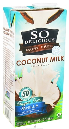 DROPPED: So Delicious - Dairy Free Coconut Milk Sugar Free Beverage Vanilla - 32 oz.