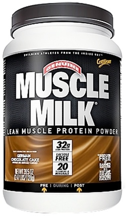 DROPPED: Cytosport - Muscle Milk Genuine Nature's Ultimate Lean Muscle Protein German Chocolate Cake - 2.47 lbs. DAILY DEAL