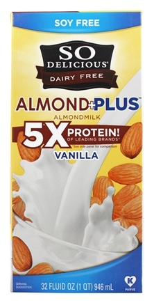 So Delicious - Dairy Free Almond Milk Plus Vanilla - 32 oz.