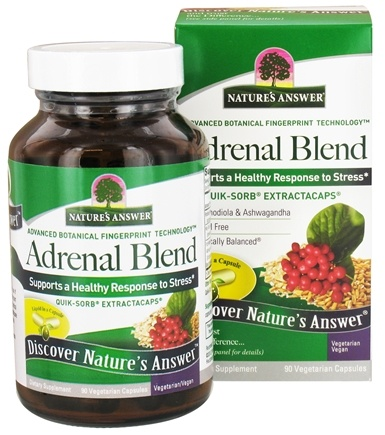 Nature's Answer - Adrenal Blend - 90 Vegetarian Capsules