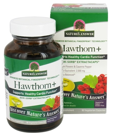 Nature's Answer - Hawthorn+ Quick-Sorb ExtractaCaps - 90 Vegetarian Capsules