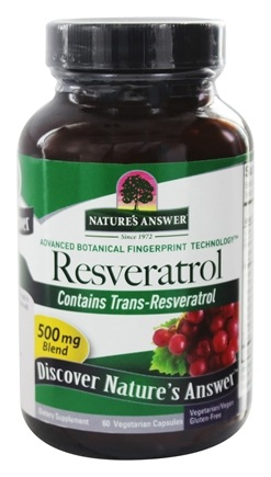 Nature's Answer - Resveratrol 250 mg. - 60 Vegetarian Capsules