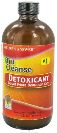DROPPED: Nature's Answer - Tru Cleanse Detoxicant Liquid White Bentonite Clay #1 - 16 oz.