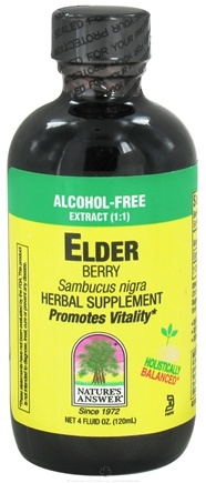DROPPED: Nature's Answer - Elderberry Alcohol Free Extract (1:1) - 4 oz. CLEARANCE PRICED