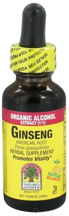 DROPPED: Nature's Answer - Ginseng Organic Alcohol Extract (1:1) - 1 oz. CLEARANCE PRICED
