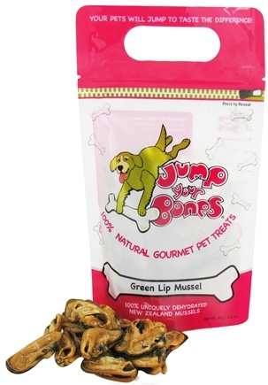 DROPPED: Jump Your Bones - 100% Natural Gourmet Pet Treats Green Lip Mussel - 2.82 oz.