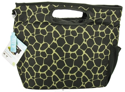 DROPPED: Blue Avocado - Lunch Clutch Green Giraffe - CLEARANCE PRICED