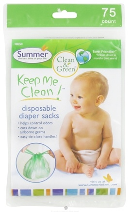 DROPPED: Summer Infant - Keep Me Clean Disposable Diaper Sacks - 75 Count CLEARANCE PRICED