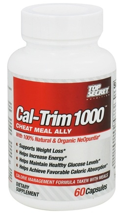DROPPED: Top Secret Nutrition - Cal-Trim 1000 Calorie Management Formula - 60 Capsules CLEARANCE PRICED