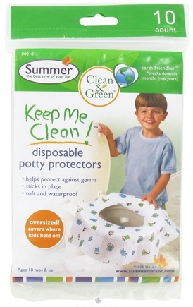 DROPPED: Summer Infant - Keep Me Clean Disposable Potty Protectors 18 Months + - 10 Count