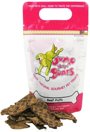DROPPED: Jump Your Bones - 100% Natural Gourmet Pet Treats Beef Puffs - 1.76 oz. CLEARANCE PRICED