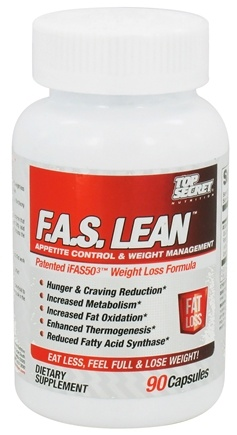 DROPPED: Top Secret Nutrition - F.A.S. Lean Appetite Control & Weight Management - 90 Capsules CLEARANCE PRICED
