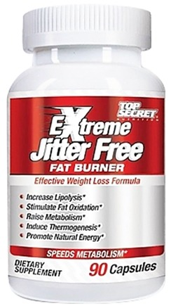 DROPPED: Top Secret Nutrition - Extreme Jitter Free Fat Burner - 90 Capsules
