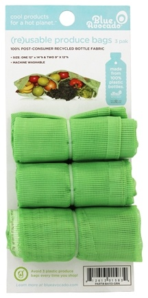 Blue Avocado - (Re)Usable Produce Bags Green - 3 Pack