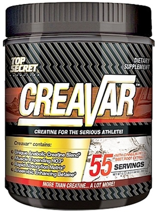 DROPPED: Top Secret Nutrition - Creavar Unique Anabolic Creatine Blend - 55 Servings - 11.64 oz. CLEARANCE PRICED