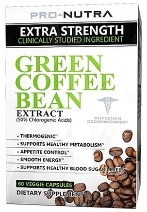 DROPPED: Pro Nutra - Green Coffee Bean Extract - 60 Vegetarian Capsules CLEARANCE PRICED