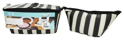 XO Eco - (ECO) Beauty Pak Beauty Clutch + Brush Boxe Tuxedo Stripe - CLEARANCE PRICED