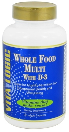 DROPPED: Vita Logic - Whole Food Multi with D3 - 90 Vegetarian Capsules
