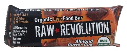 Raw Revolution - Organic Live Food Bar Almond Butter Cup - 1.8 oz.