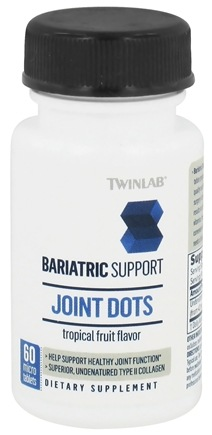 DROPPED: Twinlab - Bariatric Support Joint Dots Tropical Fruit Flavor - 60 Micro Tablets - CLEARANCE PRICED