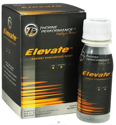 DROPPED: Thorne Performance - Elevate Energy Endurance Shot - 4 x 2.5 oz - CLEARANCE PRICED
