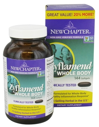DROPPED: New Chapter - Zyflamend Whole Body Bonus Size - 144 Softgels
