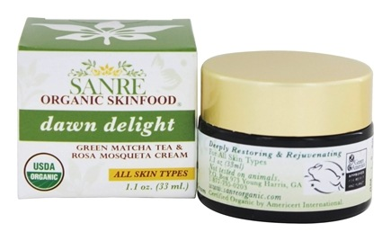 SanRe Organic Skinfood - Dawn Delight Facial Cream Matcha Green Tea and Rosa Mosqueta - 1.1 oz.