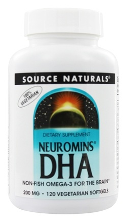 Source Naturals - Neuromins DHA 200 mg. - 120 Vegetarian Softgels