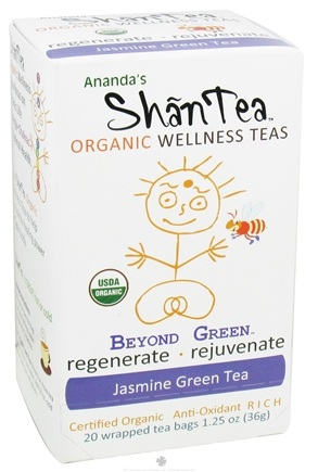 DROPPED: Ananda's Shantea - Organic Wellness Teas Beyond Green Jasmine Green Tea Anti-Oxidant Rich - 20 Tea Bags CLEARANCE PRICED