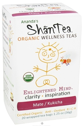 DROPPED: Ananda's Shantea - Organic Wellness Teas Enlightened Mind Mate/Kukicha Anti-Oxidant Rich - 20 Tea Bags CLEARANCE PRICED