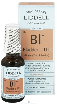 DROPPED: Liddell Laboratories - Bl Bladder + UTI Homeopathic Oral Spray - 1 oz.
