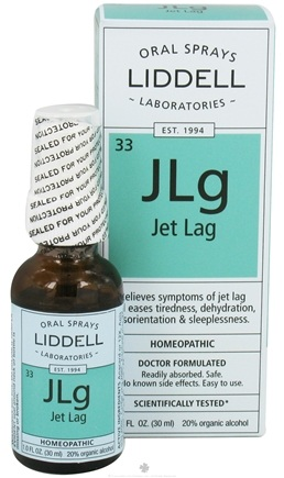 DROPPED: Liddell Laboratories - Jet Lag Homeopathic Oral Spray - 1 oz. CLEARANCE PRICED