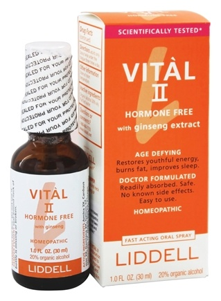 Liddell Laboratories - Vital II Hormone Free with Ginseng Extract Homeopathic Oral Spray - 1 oz.